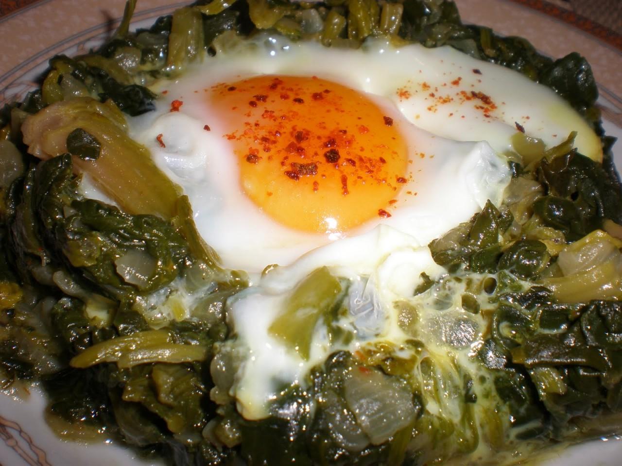 Fırında Yumurtalı Ispanak Kaç Kalori